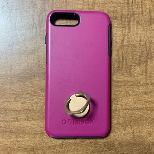 OtterBox w/removable kickstand ring iPhone 7/8Plus